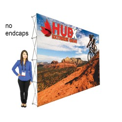 """15ft X 10ft RPL Fabric Pop Up Display - 89""""h Straight Graphic Package"""