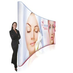 20ft EZ Tube Curved Fabric Trade Show Display