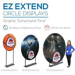 EZ Extend Circle Fabric Trade Show Display