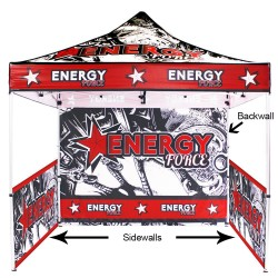 10 ft. Canopy Aluminum Tent - Full-Color UV Print Package
