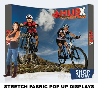 STRETCH FABRIC POP UP DISPLAYS