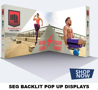SEG BACKLIT POP UP DISPLAYS